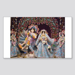 Radha Krishna Sticker (Rectangle)