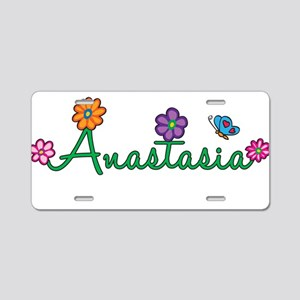 Anastasia Flowers Aluminum License Plate