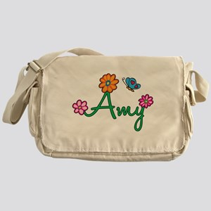 Amy Flowers Messenger Bag