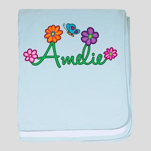 Amelie Flowers baby blanket