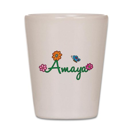 Amaya Flowers Shot Glass
