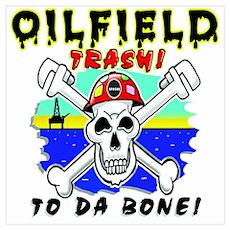 Oilfield Trash Skull Poster