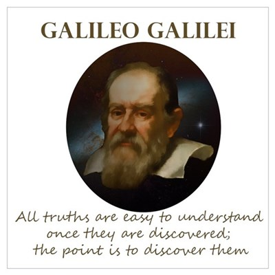 Galileo Quote - Truth Canvas Art