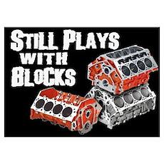 Still Plays With Blocks Poster
