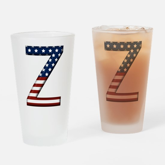 Z Stars and Stripes Drinking Glass