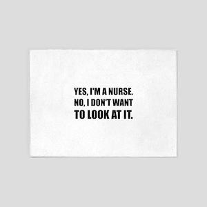 Nurse Dont Look 5'x7'Area Rug