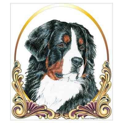 Bernese Mountain Dog Christmas Canvas Art