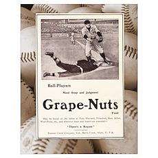 1909 Grape-Nuts Baseball Ad Poster