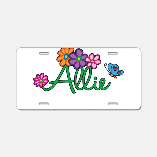Allie Flowers Aluminum License Plate