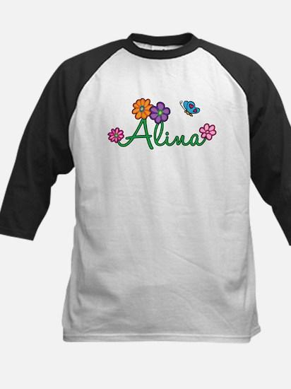 Alina Flowers Kids Baseball Jersey