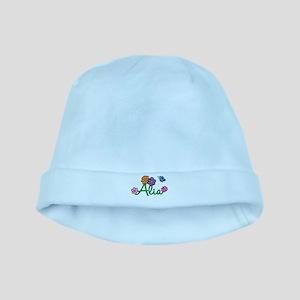 Alia Flowers baby hat
