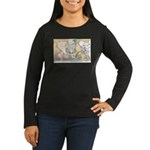 Sacrum Anatomical Women's Long Sleeve Dark T-Shirt