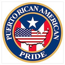 Puerto Rican American Pride Poster
