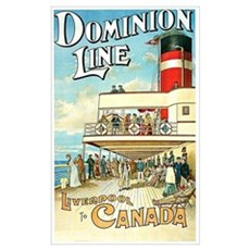 Vintage Liverpool To Canada Poster