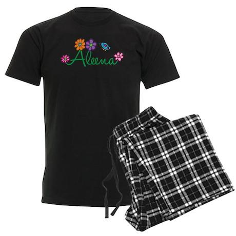 Aleena Flowers Men's Dark Pajamas