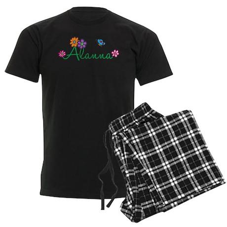 Alanna Flowers Men's Dark Pajamas