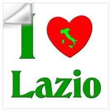 I Love Lazio Italy Wall Decal