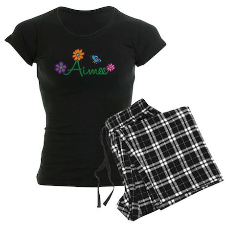 Aimee Flowers Women's Dark Pajamas