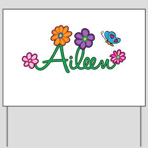Aileen Flowers Yard Sign