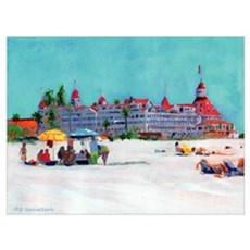 Day at The Beach Coronado CA Canvas Art