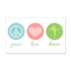Peace, Love & Dance 22x14 Wall Peel