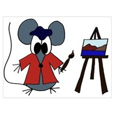 The Artist Mouse Framed Print
