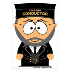 Starship Conductor Framed Print