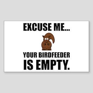 Squirrel Birdfeeder Empty Sticker
