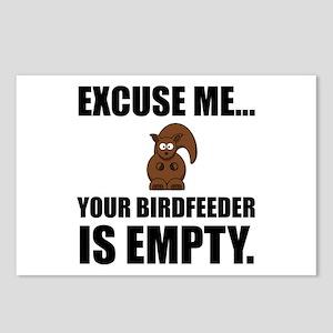 Squirrel Birdfeeder Empty Postcards (Package of 8)