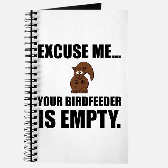 Squirrel Birdfeeder Empty Journal
