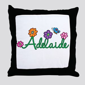 Adelaide Flowers Throw Pillow