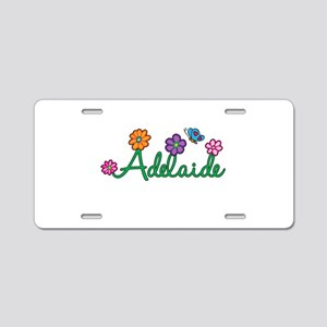 Adelaide Flowers Aluminum License Plate