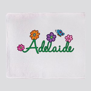 Adelaide Flowers Throw Blanket