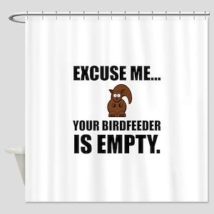 Squirrel Birdfeeder Empty Shower Curtain