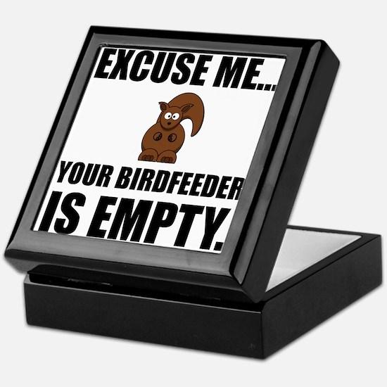 Squirrel Birdfeeder Empty Keepsake Box
