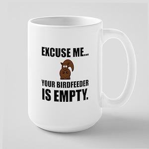 Squirrel Birdfeeder Empty Mugs