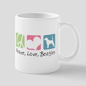 Peace, Love, Beagles Mug
