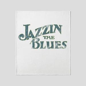 Jazzin The Blues II Throw Blanket