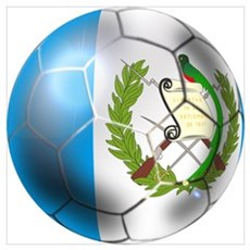 Guatemala Soccer Football Framed Print