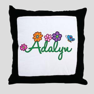 Adalyn Flowers Throw Pillow