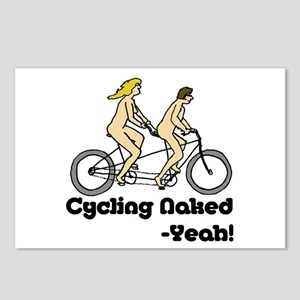 Cycling Naked - Yeah! Postcards (Package of 8)