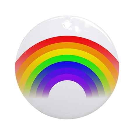 Fading Rainbow Graphic Ornament (Round)