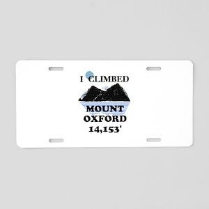 Mount Oxford Aluminum License Plate
