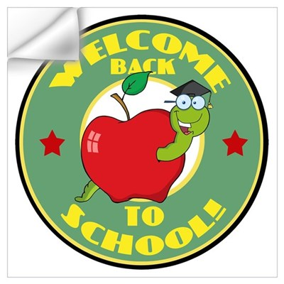 Welcome Back to School Worm Wall Decal