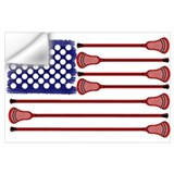 Lacrosse americas game Wall Decals