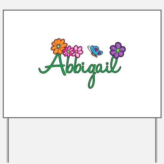 Abbigail Flowers Yard Sign