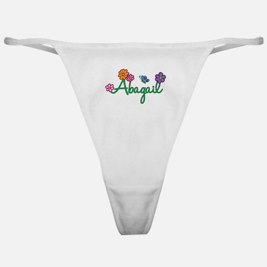 Abagail Flowers Classic Thong