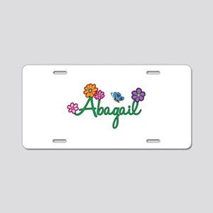 Abagail Flowers Aluminum License Plate