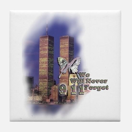 September 11, we will never forget - Tile Coaster