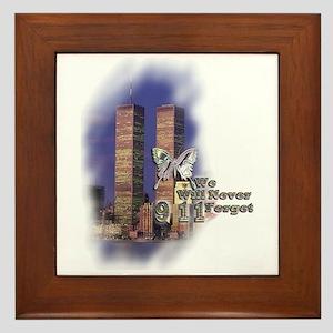 September 11, we will never forget - Framed Tile